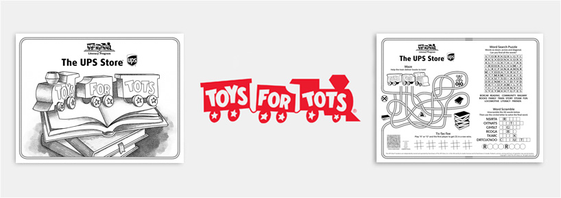 Toys for Tots Literacy Program - Activity sheet banner