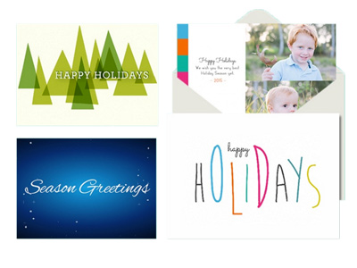 4 greeting card designs