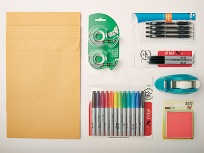 Examples of office supplies sold at The UPS Store