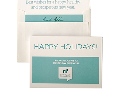 Invitations to holiday party with envelopes