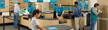 Customers inside The UPS Store