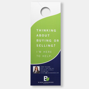 Sample printed door hanger