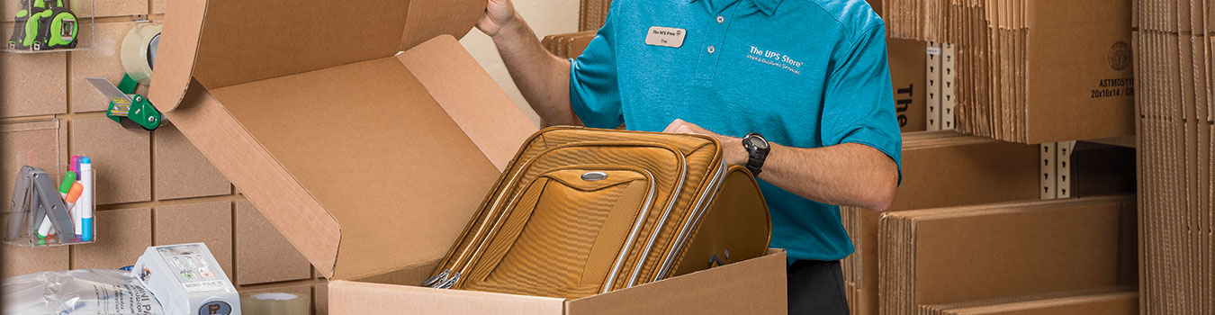 Have your luggage packed and shipped to your destination at The UPS Store.