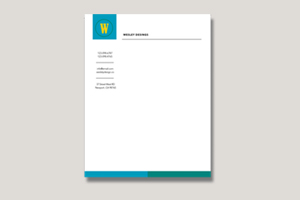 Stack of printed letterhead paper